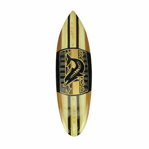 Hand Crafted Wooden Tribal Dolphin Design Surfboard Wall Hanging 20 Inches