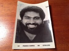 VINTAGE PITTSBURGH STEELERS FOOTBALL NFL FRANCO HARRIS #32 SIGNED PICTURE 80s