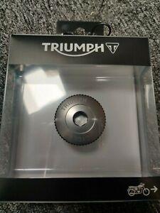 Genuine Triumph A9610240 - Oil Filler Cap, Machined, Gunmetal Finish