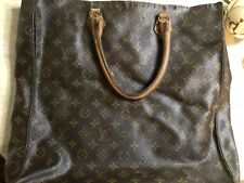 LOUIS VUITTON Monogram Sac Plat GM Hand Bag LV Authentic Vintage Condition