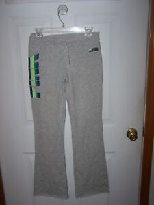 Pink Victoria's Secret PINK Sweatpants banded Waist tie  Classic Pant MED gray