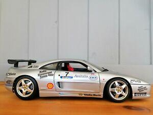 Ferrari F355 Challenge Silver #7 rare model 1:18 by Hotwheels