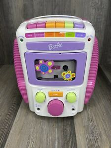 Mattel 2001 Cassette Tape Player Barbie BE-477 Sing-Along-Karaoke