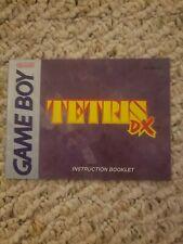 Tetris DX (Nintendo Game Boy Color, 1998) INSTRUCTION MANUAL ONLY