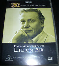 David Attenborough Life On Air 50 Years Of Widlife (All Region) DVD - NEW