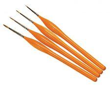 Humbrol 00, 0, 1 & 2 Acrylic & Enamel Fine Sable Hair Detail Brush Set AG4301