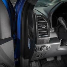 17 22 Ford F250 F350 Molded Black Wood Grain Air Vent Dashboard Bezel Trim Cover