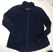 """GAP ~ blu Jeans scuro 100% Cotone Camicia, Tasche-Taglia L, chst 42"""""""