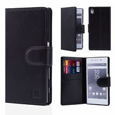 32nd Premium Series - Real Leather Book Wallet Case Cover for Sony Xperia X Sny.xperiax.32ndprem-black Black