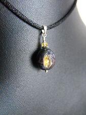 925 sterling silver carved freshwater PEARL black pendant CITRINE GEMSTONE