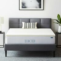 LUCID  2, 3, and 4 inch Ventilated Memory Foam Mattress Topper - Twin Full Queen