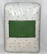 Kate Spade Full/Queen White Comforter Set with Gold / Black / Pink Confeti Dot