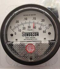 Sensocon Pressure Gauge 0-60PA/0-0.25 In w.c. alternative to Dwyer Magnehelic