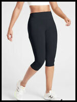 Athleta NWT Women's Ultimate Stash Pocket Crop Size XSmall Black