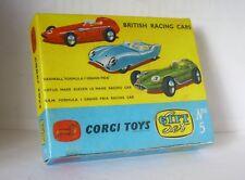 Repro Box Corgi Gift Set Nr.05 British Racing Cars