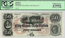 $50 City Bank New Haven, CT. PCGS 67 PPQ. Superb Gem Uncirculated. High Denom.