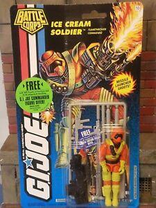 GI JOE ~ 1994 ICE CREAM SOLDIER ~ NO VEINS ~ MOC MOSC ~ BATTLE CORPS COBRA