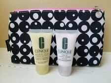 CLINIQUE LOT- 1OZ Dramatically Different Lotion, Foaming Cleanser, & Travel Bag
