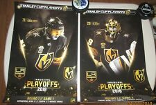 2 Vegas Golden Knights vs Los Angeles Kings Fleury and Karlsson game 1 and 2