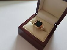 9ct Gold Onyx Ring T 1/2