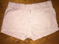 J CREW Chino Weathered Broken In Classic Twill Khaki Shorts Women's SZ 8 !