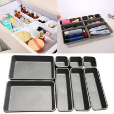 8Pcs Storage Organizer Box Make Up Brush Clothes Holder Cover Tidy Drawer Set UK