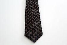 Männer Herren Krawatte Binder Schlips Seide Länge 150 cm braun golden Karo OVP