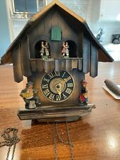 Vintage German Black Forest Chalet style cuckoo clock