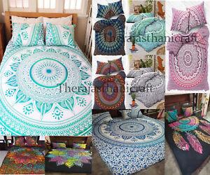 Indian Mandala Quilt Duvet Cover Bedding Cotton King/Double Doona Cover Bed Set