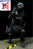 USA 1:6 SWAT Soldier Model Black 12'' Army Uniform Suit Toy Doll Action Figure