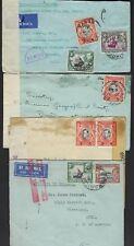 KUT KENYA UGANDA TANGANYIKA 1939 43 FOUR COVERS ONE PART AIR MAIL RED MARKINGS &