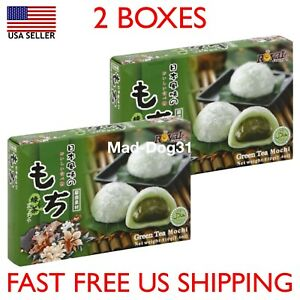 Mochi Royal Family Daifuk Japanese Dessert Japan Rice Cake USA Green Tea 2 Pack