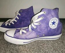 Converse purple Tie Dyed High Top Trainers All Star Chuck Taylor Unisex Size 6/8
