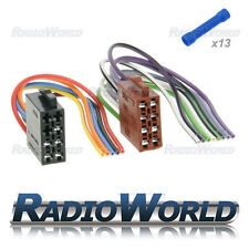 Universal Male Power ISO to Bare End Wires + Butt Crimp Connectors Lead Cable