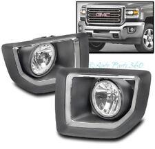 15-16 GMC SIERRA 2500 HD TRUCK BUMPER DRIVING FOG LIGHT LAMP CHROME W/BEZEL+BULB