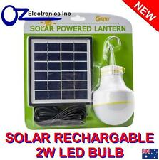 Rechargeable LED Globe Camping Bulb Solar Panel Outdoor Charge iPhone Samsung