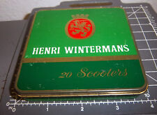 Henri Wintermans 20 Scooters tobacco tin, great graphics & colors, Holland