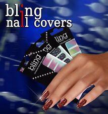 BLING Fullcover Designsticker Nr.4 Trend aus den USA Nailart Hochglanz Sticker