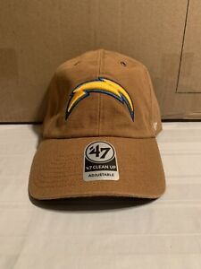 Los Angeles Chargers NFL '47 Brand Carhartt Mens Brown Clean Up Adjustable Hat