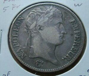 1812 France, Napoléon I, 5 Francs,  Silver Coin KM 644.16