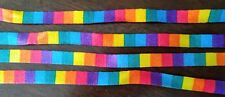 4 pairs Rainbow Shoelace Athletic Sport Sneaker Flat Bootlaces Strings 45 Inches
