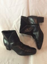 K By Clarks Black Ankle Leather Boots Size 5.5