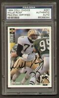 Willie Roaf signed autograph 1994 UD Choice PSA Slabbed