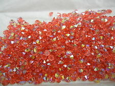 144 swarovski crystal squished spacer beads,5mm padparadscha AB #5305