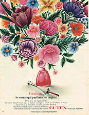 PUBLICITE ADVERTISING  1966   CUTEX   cosmétiques VERNISSIMO