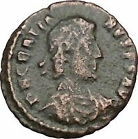 Gratian 378AD Rare Authentic Ancient Roman Coin Wreath of success  i40421