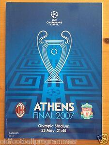 2007 CHAMPIONS LEAGUE FINAL PROGRAMME *(LIVERPOOL V AC MILAN)* (23/05/2007)