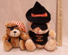 Russ Stuffed Plush Halloween Trick or Treat Bear Luv Pets Pirate Lot of 2