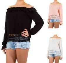 Locker sitzende Damenblusen, - tops & -shirts im Blusen aus Polyester