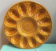 Vintage Waccamaw Portugal Basket Weave Pottery Deviled Egg Heavy Dish* Mint Cond